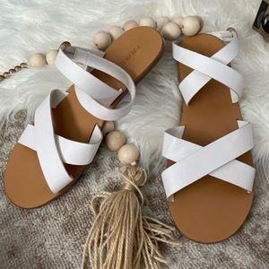 White Forever21 sandals